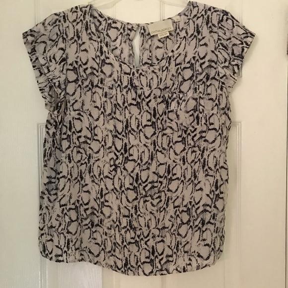 Cynthia Rowley Tops - Silk short sleeve blouse